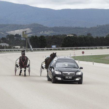Bob Chishol Driving Around Yarra Glen Race Course